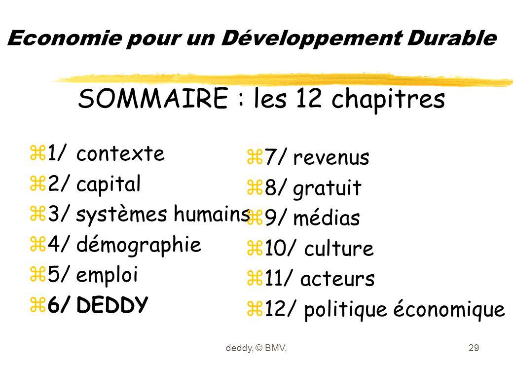 deddy, © BMV,29 Economie pour un Développement Durable z1/contexte z2/capital z3/systèmes humains z4/démographie z5/emploi z6/DEDDY z7/revenus z8/grat