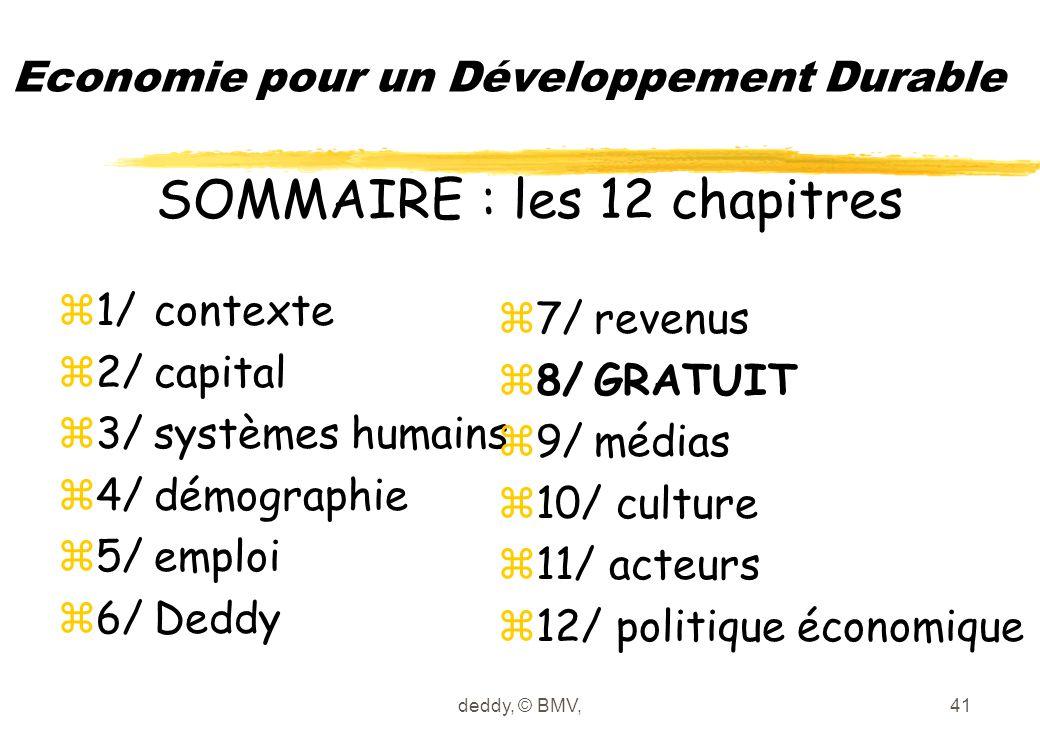 deddy, © BMV,41 Economie pour un Développement Durable z1/contexte z2/capital z3/systèmes humains z4/démographie z5/emploi z6/Deddy z7/revenus z8/GRAT