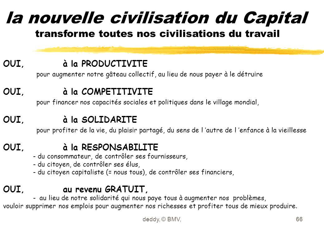 deddy, © BMV,66 la nouvelle civilisation du Capital transforme toutes nos civilisations du travail OUI, à la PRODUCTIVITE pour augmenter notre gâteau
