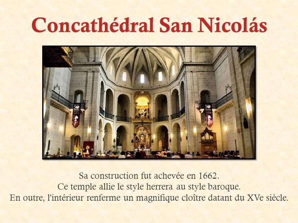 Concathédral San NicolásConcathédral San Nicolás Sa construction fut achevée en 1662.