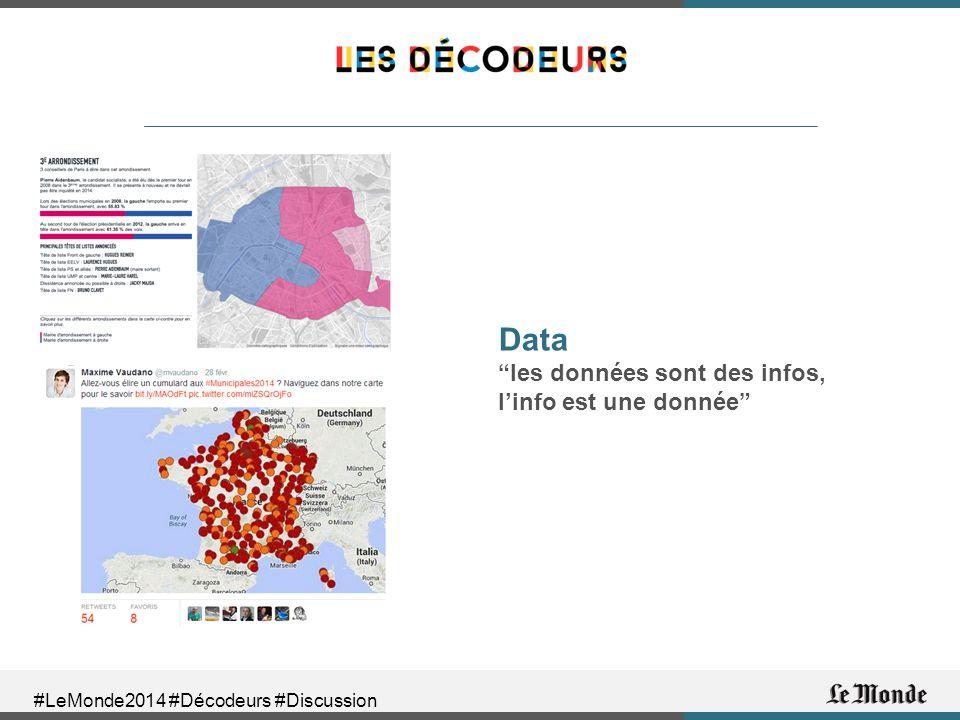 #LeMonde2014 #Décodeurs #Discussion Data les données sont des infos, l'info est une donnée