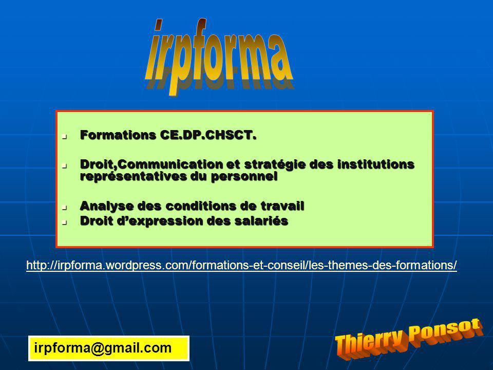 Formations CE.DP.CHSCT. Formations CE.DP.CHSCT.