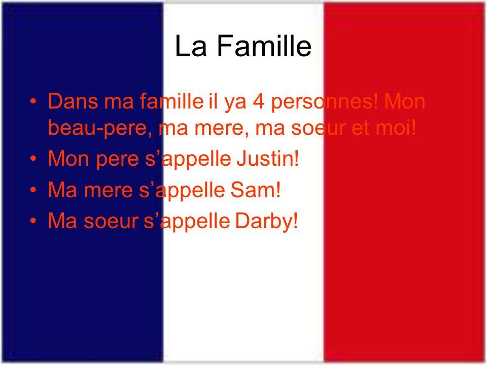 La Famille Dans ma famille il ya 4 personnes.Mon beau-pere, ma mere, ma soeur et moi.