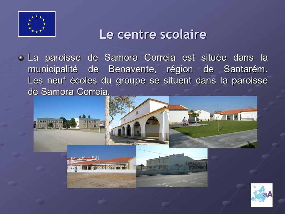 Le centre scolaire Le centre scolaire La paroisse de Samora Correia est située dans la municipalité de Benavente, région de Santarém.