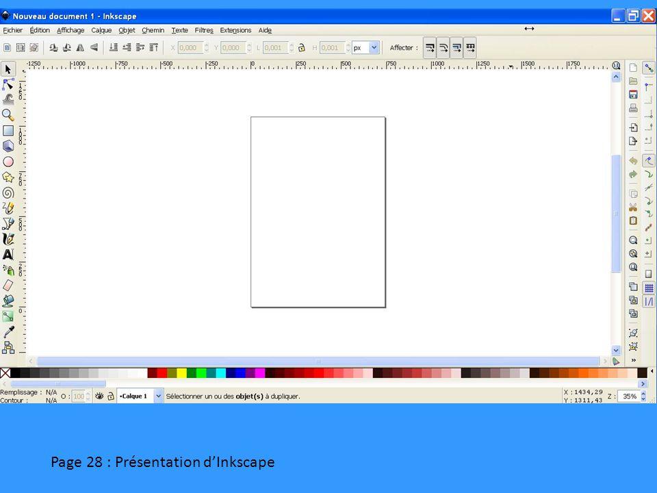 Page 69, InkScape : « Pinceau » et « pipette » 1.Pinceau 2.
