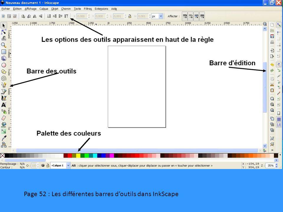 Page 53 : Outil « Aligner et distribuer » dans InkScape
