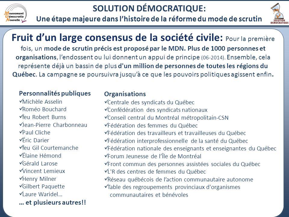 21 Fruit d'un large consensus de la société civile: Pour la première fois, un mode de scrutin précis est proposé par le MDN.