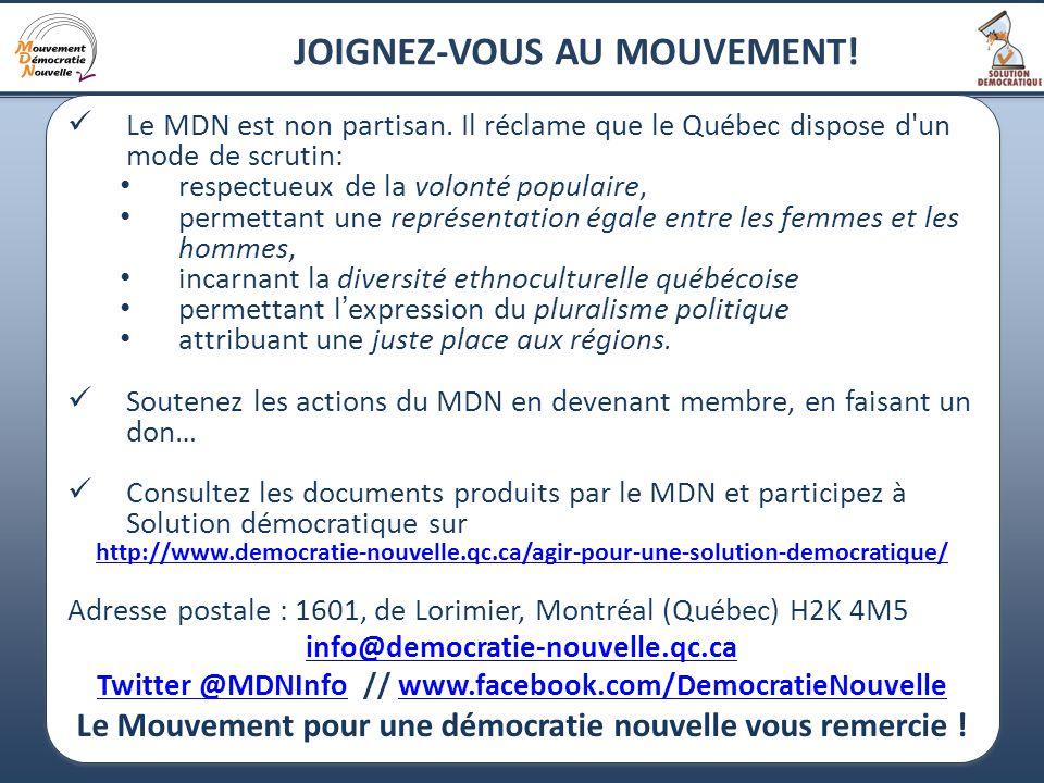 24 JOIGNEZ-VOUS AU MOUVEMENT. Le MDN est non partisan.