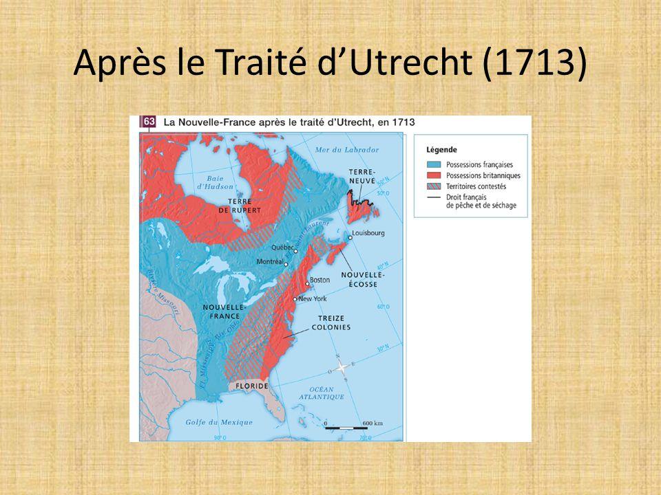 Après le Traité d'Utrecht (1713)