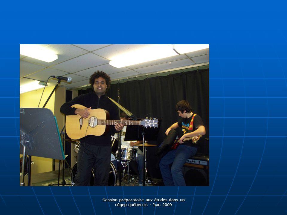 Session préparatoire aux études dans un cégep québécois - Juin 2009