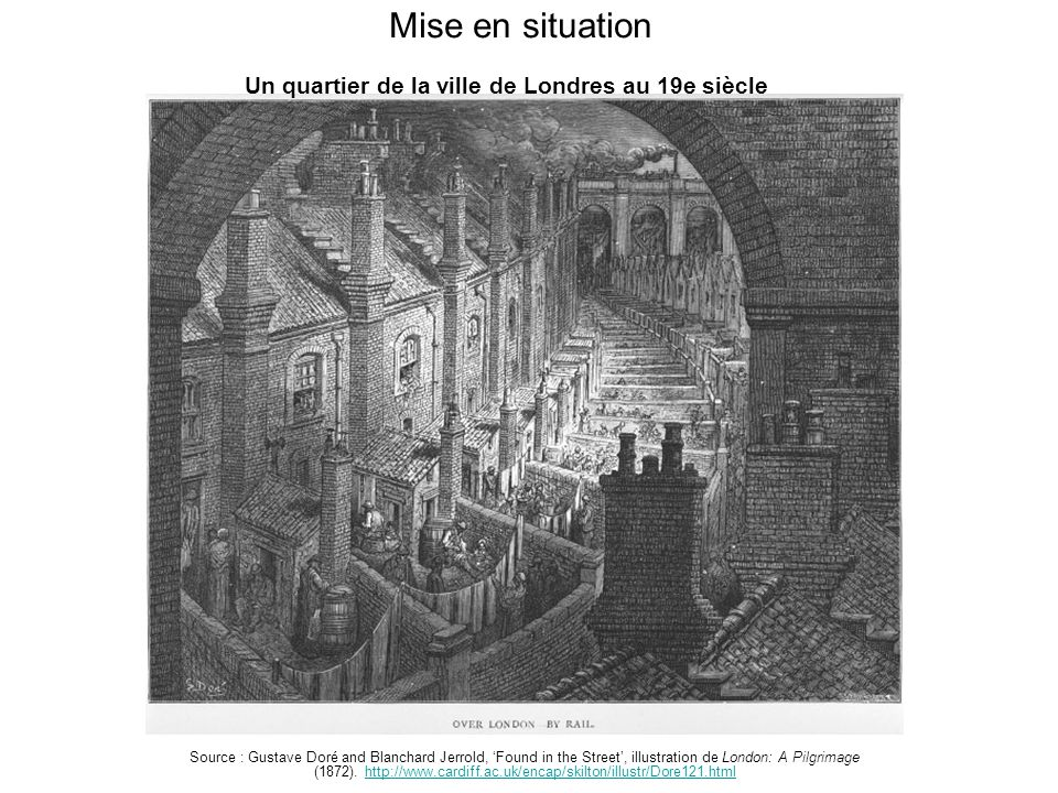 Mise en situation Source : Gustave Doré and Blanchard Jerrold, 'Found in the Street', illustration de London: A Pilgrimage (1872).