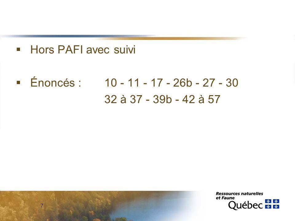 7  Hors PAFI avec suivi  Énoncés : 10 - 11 - 17 - 26b - 27 - 30 32 à 37 - 39b - 42 à 57