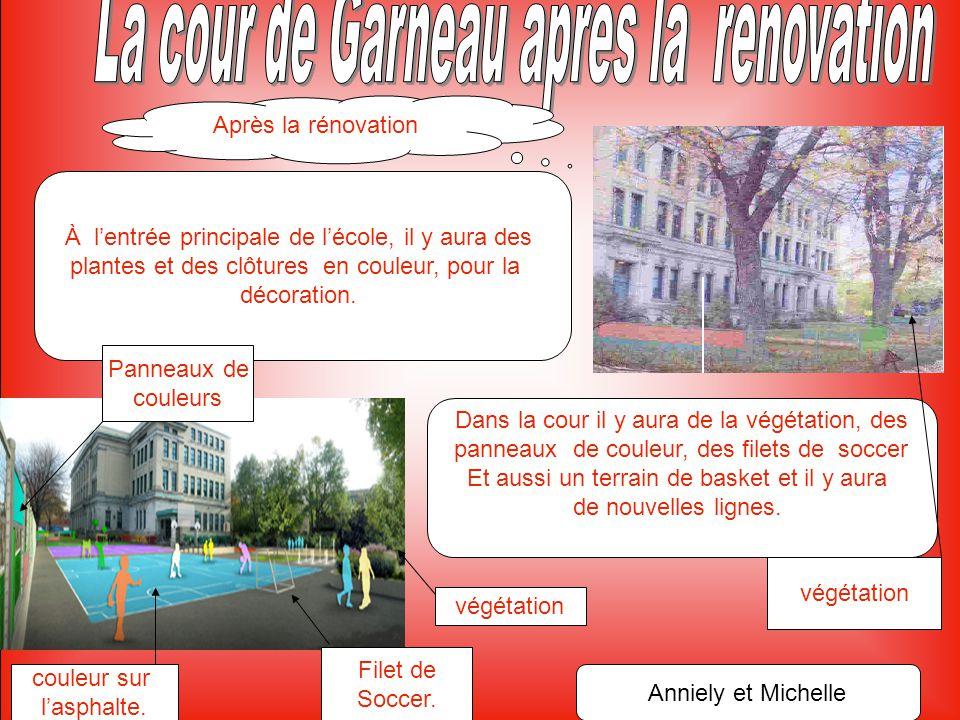 Avant la rénovation Notre cour d'école est très vieille, c'est maintenant le temps de la rénover.
