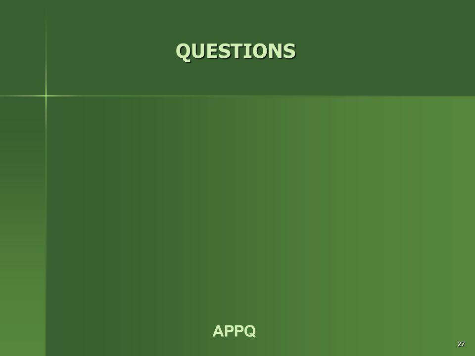 APPQ 27 QUESTIONS