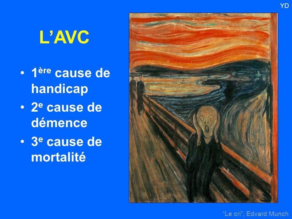 """""""Le cri"""", Edvard Munch YD 1 ère cause de handicap 2 e cause de démence 3 e cause de mortalité L'AVC"""