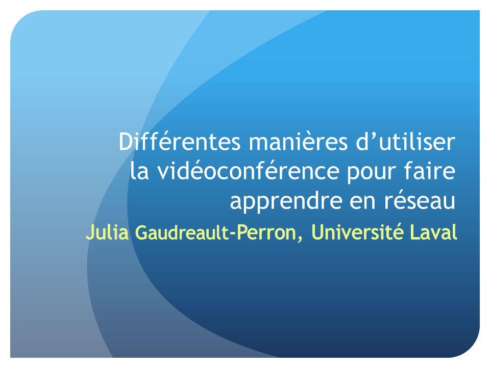 Différentes manières d'utiliser la vidéoconférence pour faire apprendre en réseau