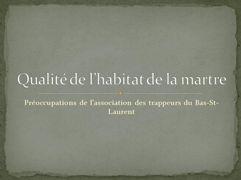Préoccupations de l'association des trappeurs du Bas-St- Laurent
