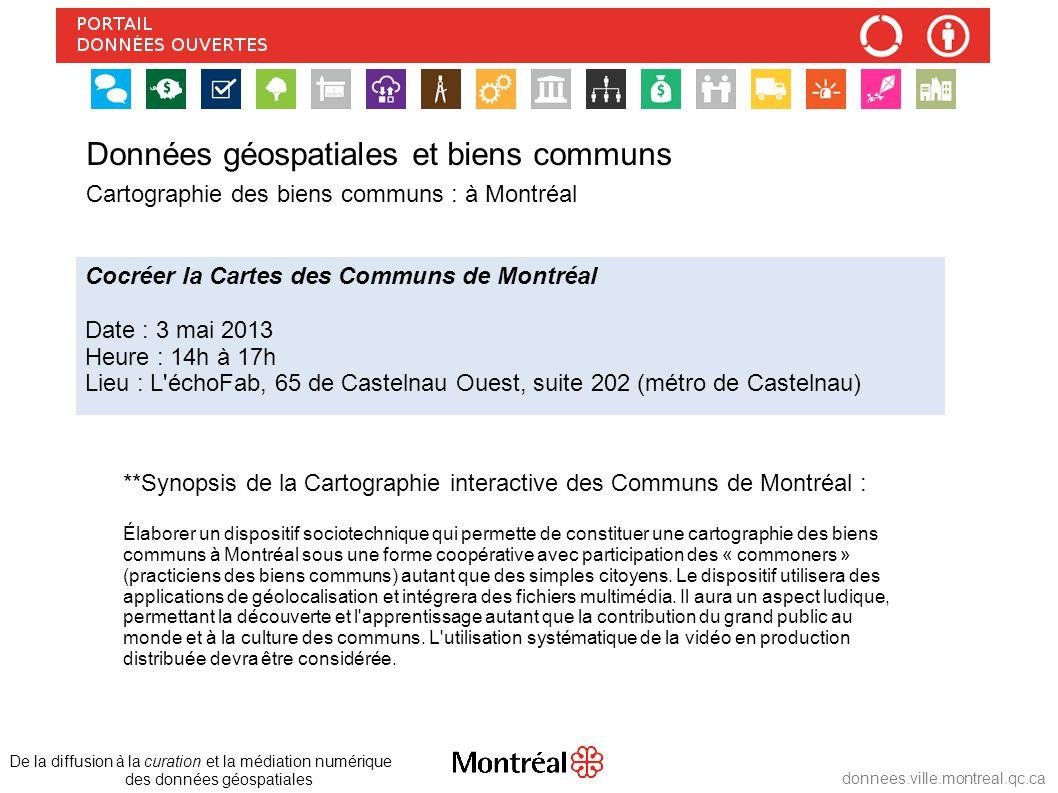 donnees.ville.montreal.qc.ca **Synopsis de la Cartographie interactive des Communs de Montréal : Élaborer un dispositif sociotechnique qui permette de