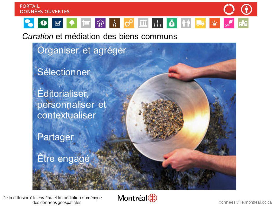 Curation et médiation des biens communs De la diffusion à la curation et la médiation numérique des données géospatiales donnees.ville.montreal.qc.ca
