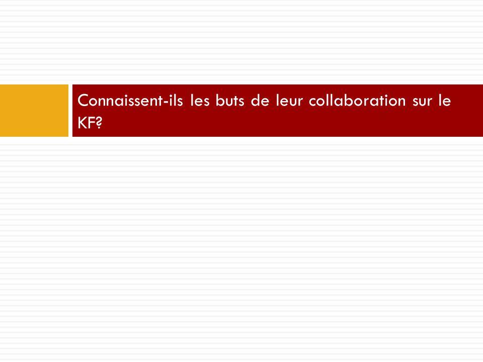 Connaissent-ils les buts de leur collaboration sur le KF?