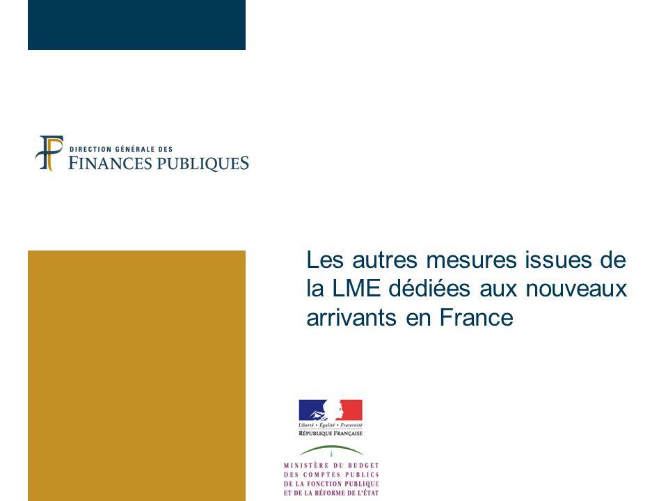 Les autres mesures issues de la LME dédiées aux nouveaux arrivants en France