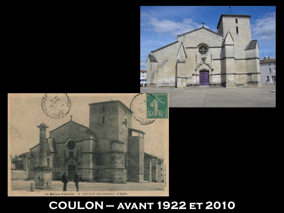 ST JEAN D'ANGELY – 1906 et 2010