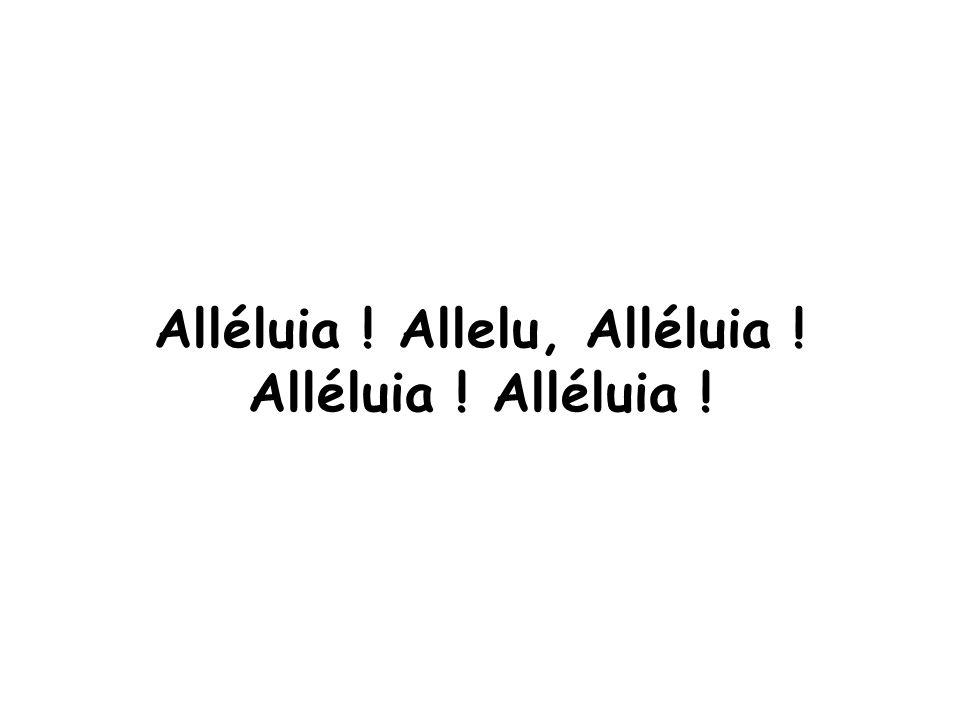 Alléluia ! Allelu, Alléluia ! Alléluia !