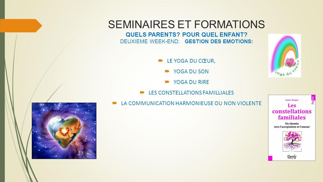 SEMINAIRES ET FORMATIONS QUELS PARENTS. POUR QUEL ENFANT.