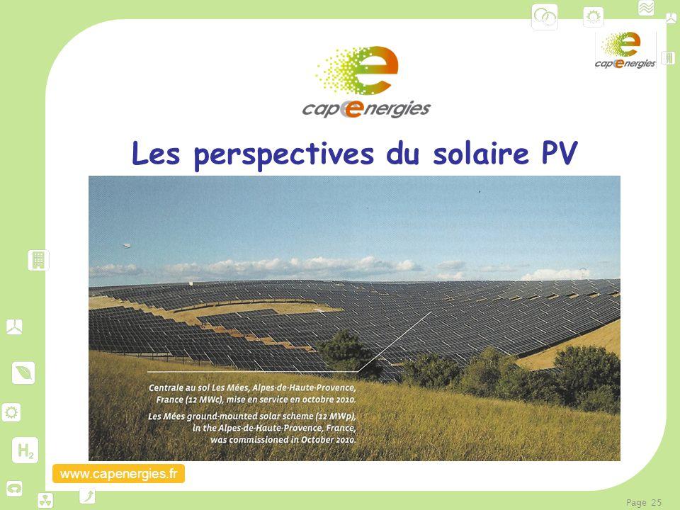 www.capenergies.fr Page 25 Les perspectives du solaire PV