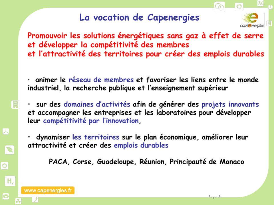 www.capenergies.fr La vocation de Capenergies Page 3