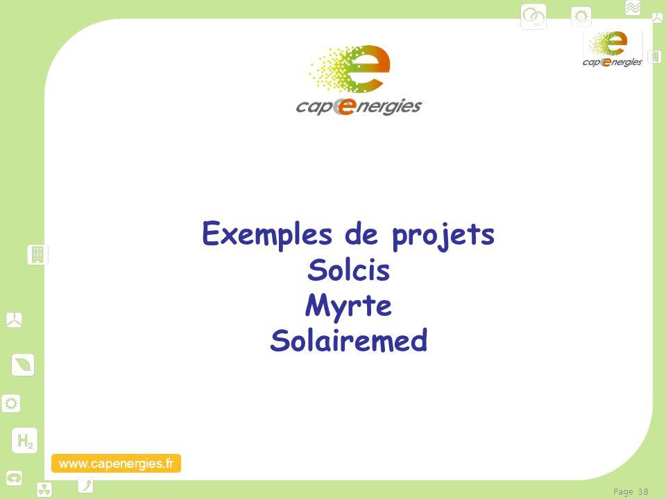 www.capenergies.fr Page 38 Exemples de projets Solcis Myrte Solairemed