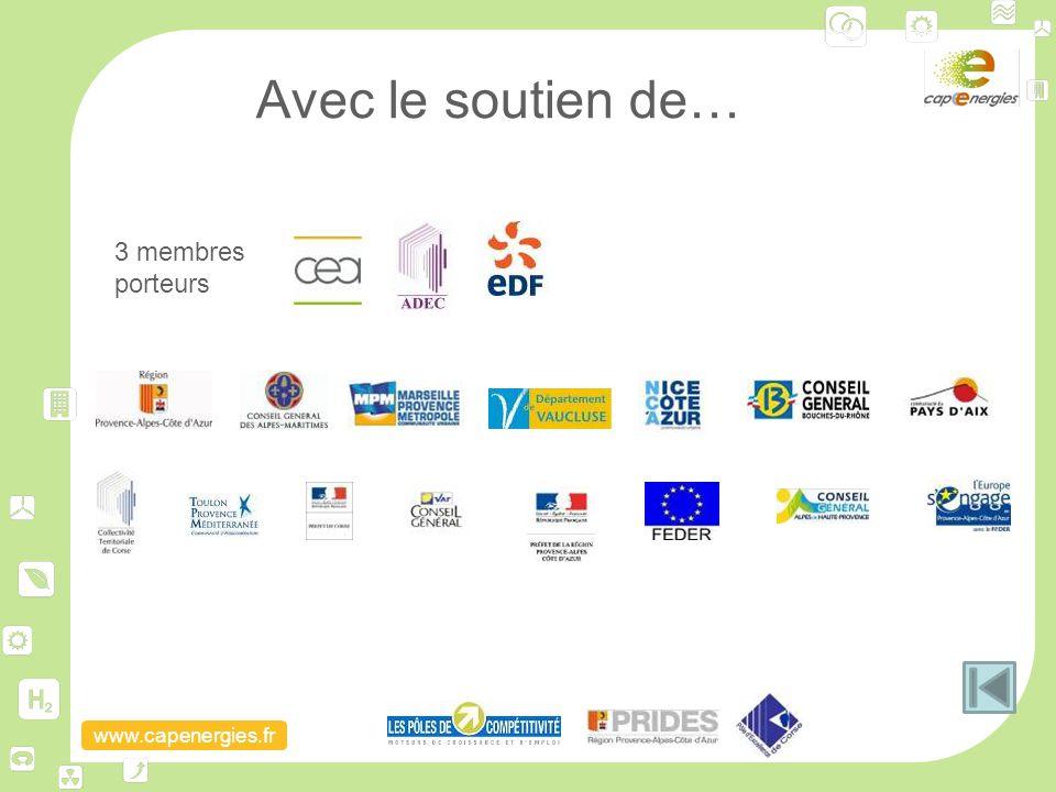 www.capenergies.fr Avec le soutien de… 3 membres porteurs