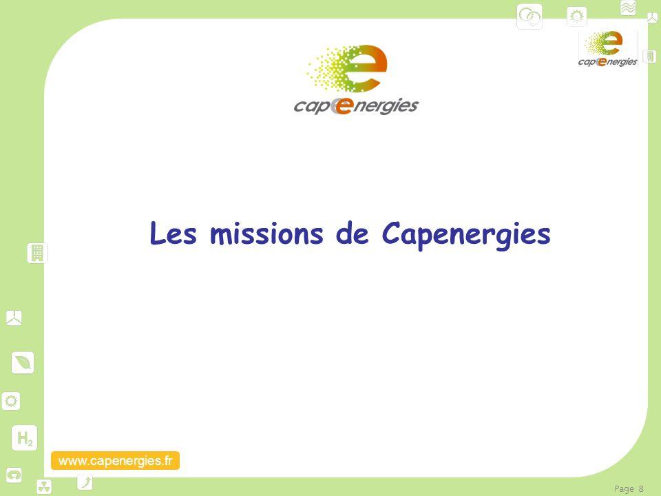 www.capenergies.fr Page 8 Les missions de Capenergies