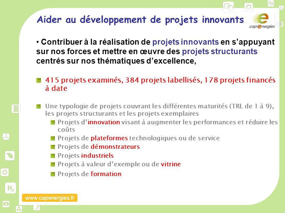 www.capenergies.fr Aider au développement de projets innovants Contribuer à la réalisation de projets innovants en s'appuyant sur nos forces et mettre