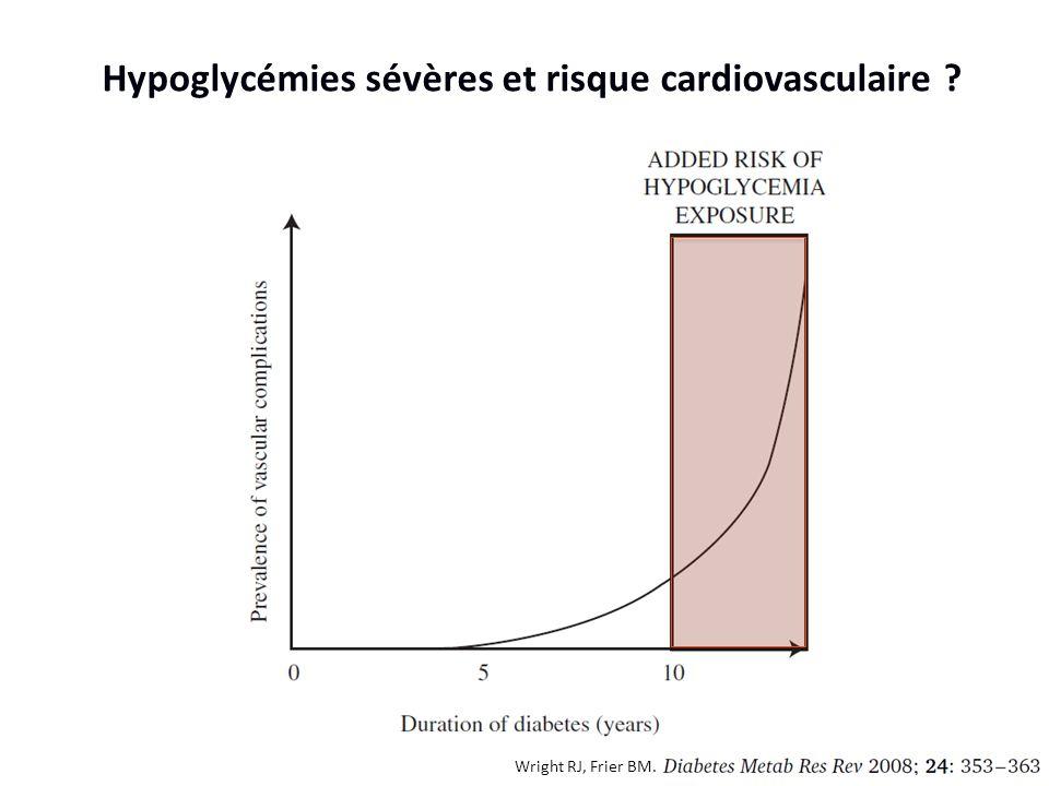 Wright RJ, Frier BM. Hypoglycémies sévères et risque cardiovasculaire ?