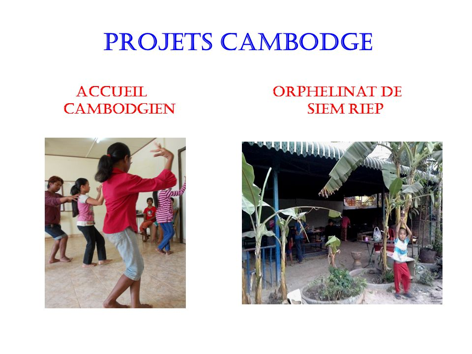 PROJETS CAMBODGE Accueil Cambodgien Orphelinat de Siem Riep