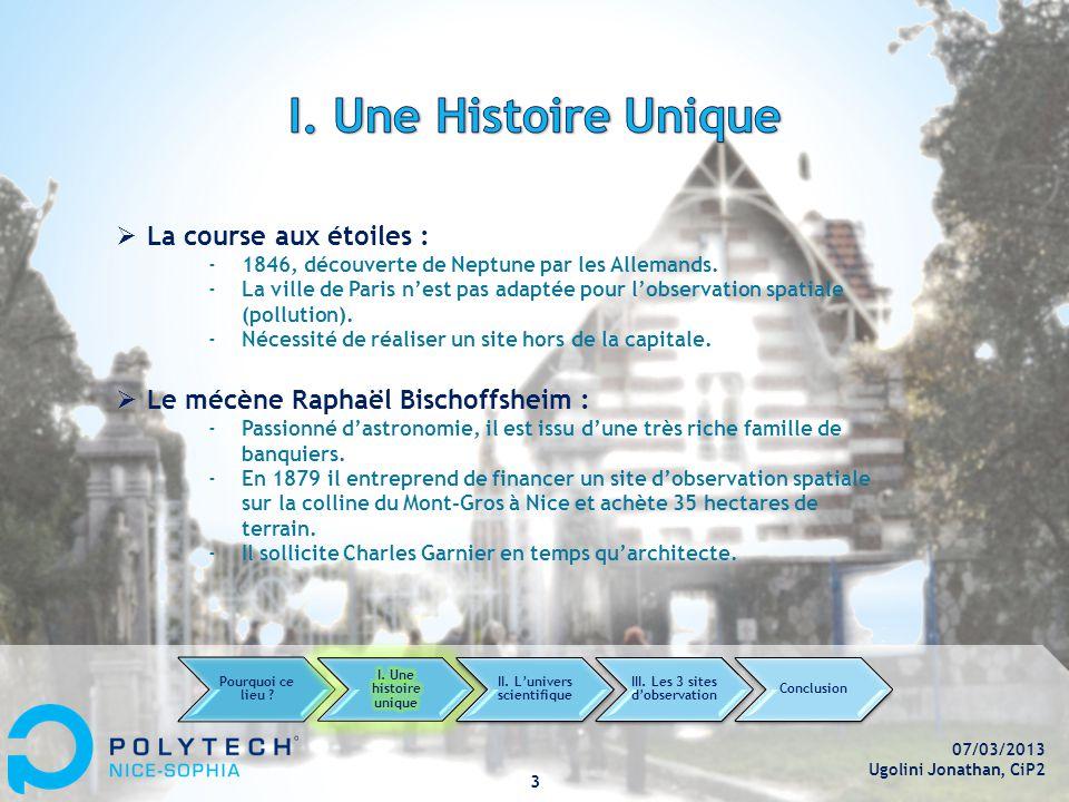 07/03/2013 Ugolini Jonathan, CiP2 3  La course aux étoiles : ‐1846, découverte de Neptune par les Allemands.