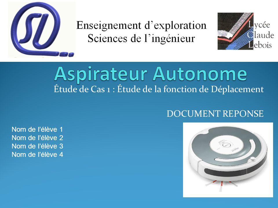 Aspirateur Autonome / Etude de cas 1 / Activité 1 Critique des résultats Calcul de la puissance motrice utile : Pmu Phénomène limitant l'inclinaison maximale .