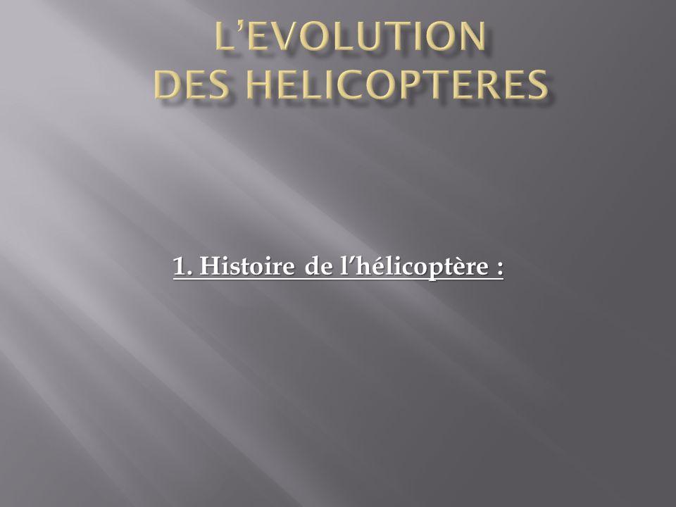 1. Histoire de l'hélicoptère :