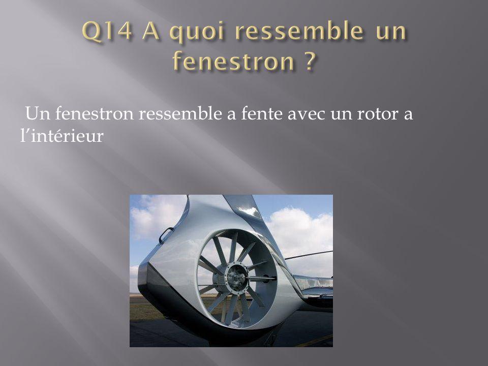 Un fenestron ressemble a fente avec un rotor a l'intérieur