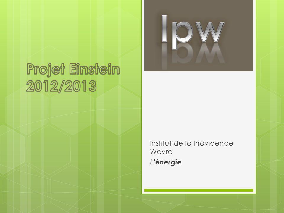 Institut de la Providence Wavre L'énergie