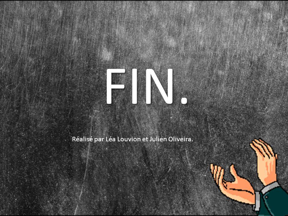 FIN. Réalisé par Léa Louvion et Julien Oliveira.