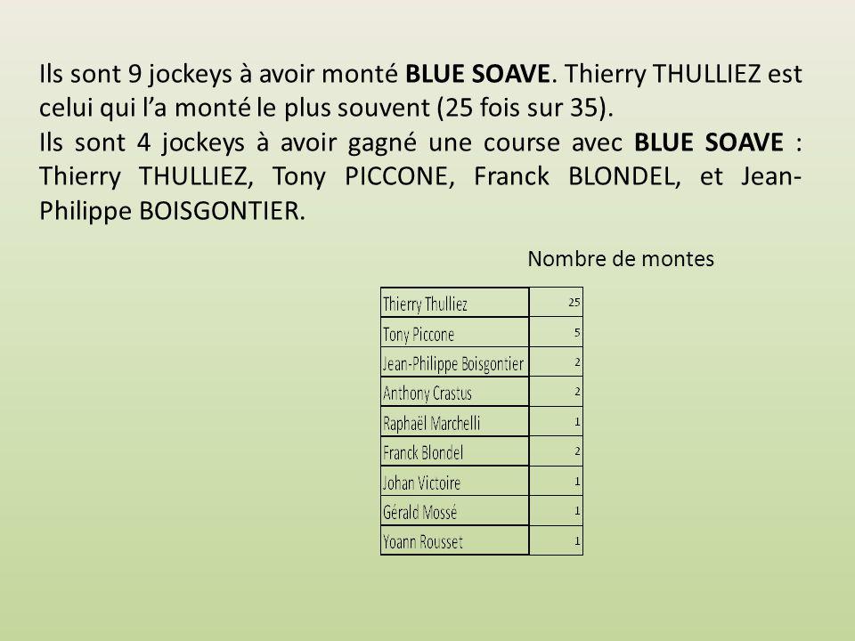 Les jockeys … … qui ont monté BLUE SOAVE http://bluesoave.e-monsite.com BLUE SOAVE NP Août 2014 v06