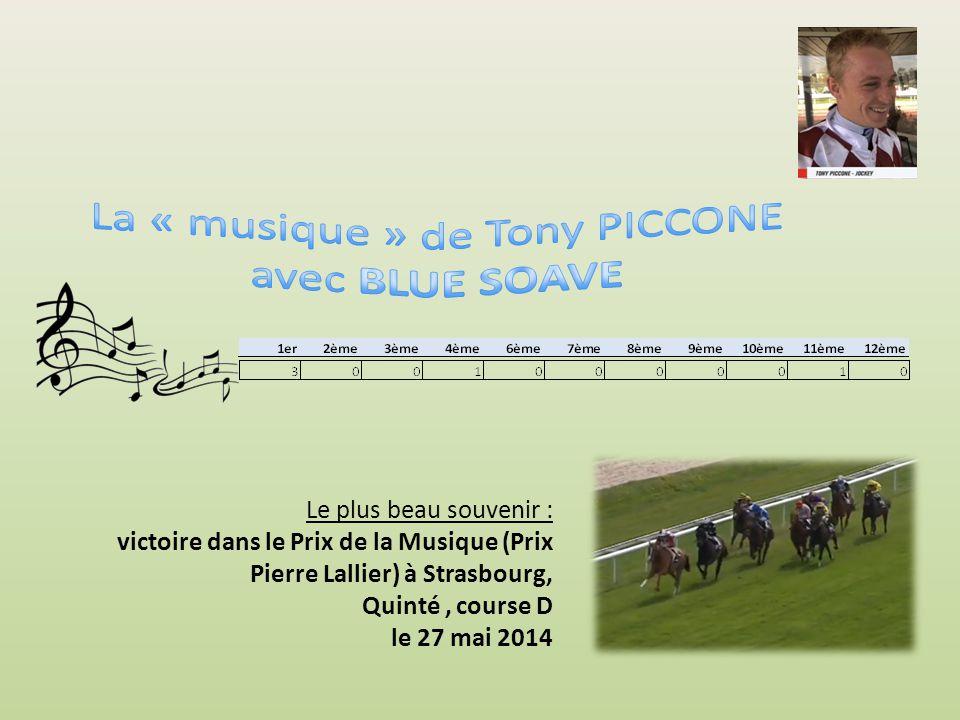 1er2ème3ème4ème6ème7ème8ème9ème10ème12ème 6223330141 Le plus beau souvenir : victoire dans le Prix du Pin à Longchamp, Groupe III le 09 septembre 2012