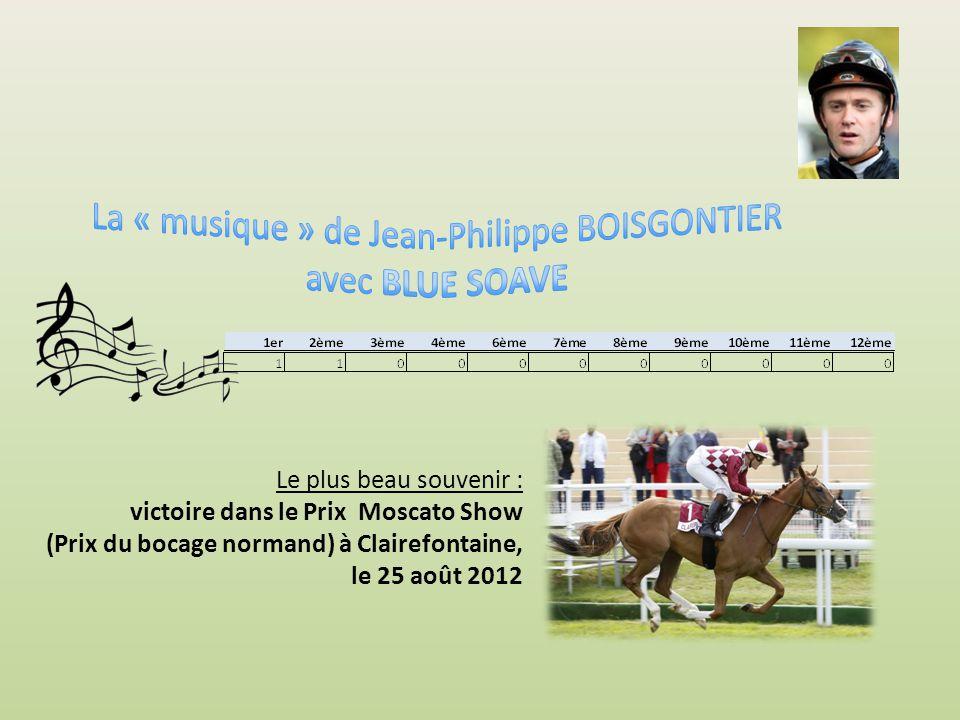 Le plus beau souvenir : victoire dans le Prix de la Musique (Prix Pierre Lallier) à Strasbourg, Quinté, course D le 27 mai 2014