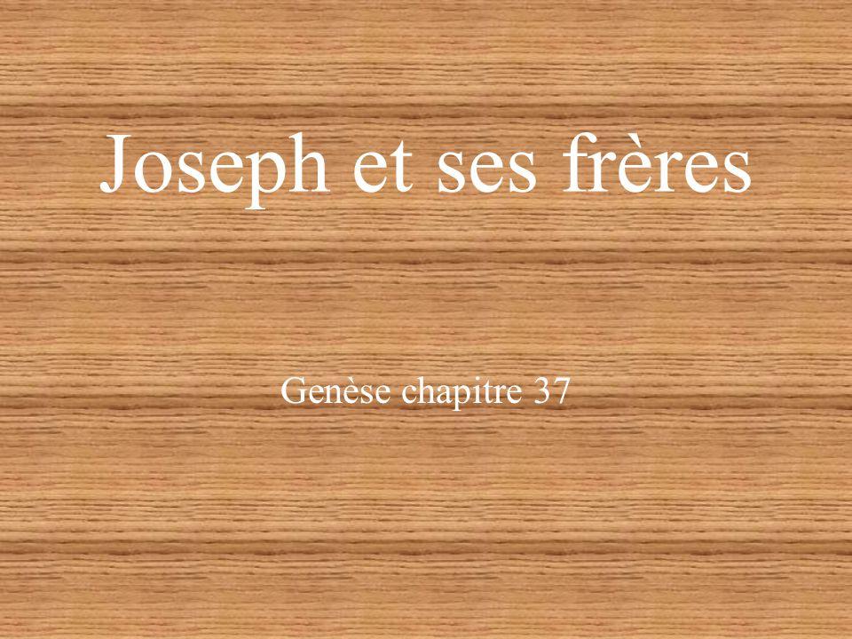 Joseph et ses frères Genèse chapitre 37