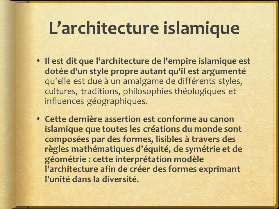  «Sa forme architecturale et spatiale primitive fut, pour tous les projets successifs, une sorte d esquisse basée sur la variation du hall de prière et des cours et elle a effectivement servi la liturgie islamique pendant des siècles.