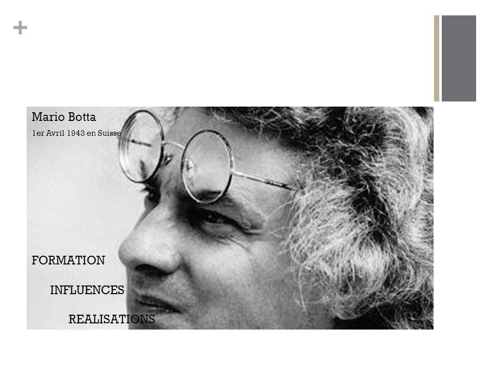 + FORMATION INFLUENCES REALISATIONS Mario Botta 1er Avril 1943 en Suisse