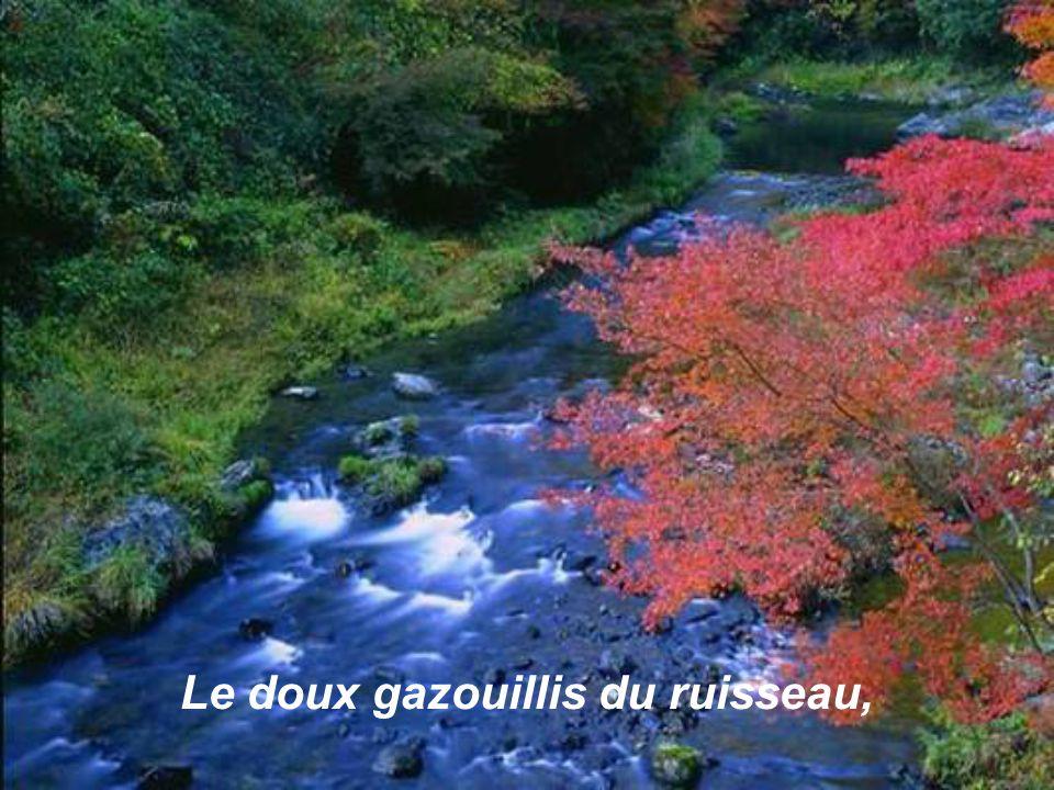 Le doux gazouillis du ruisseau,