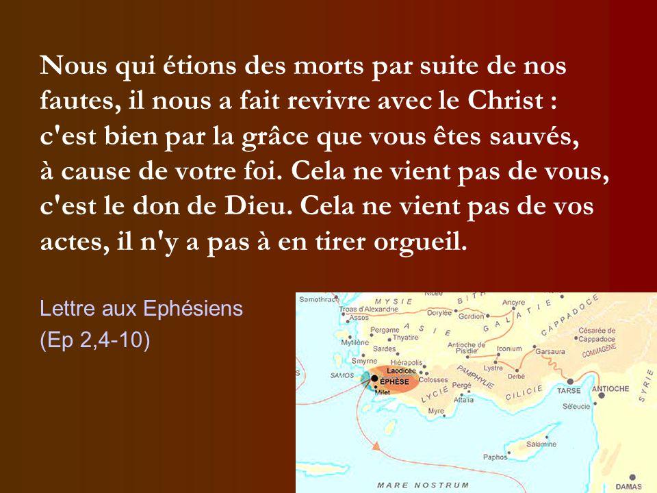 Ce qui compte, c'est la foi en ce que Dieu fait pour nous par Jésus-Christ, non ce que nous faisons pour Dieu.